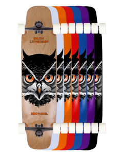 """39"""" Nocturnal Double Kicktail Deck Or Complete"""