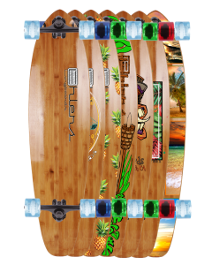 """40"""" X 10"""" BAMBOO KICKTAIL COMPLETE OR DECK"""
